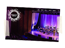 American Pops Orchestra Logo and Wordpress Website