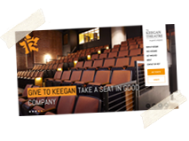 Keegan Theatre Logo Design, Wordpress Website, Email Marketing and Marketing Support