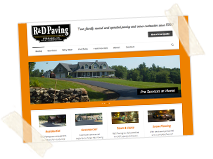 R&D Paving, Inc. Wordpress Web Design , Print Design, Photography/Video, Social Media Strategy
